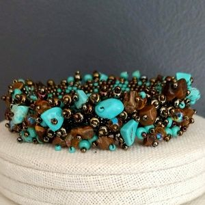 Jewelry - Turquoise and brown stone bracelet